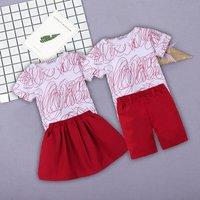 Brother and Sister Graffiti Tee and Skirt / Shorts Set