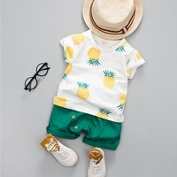 Baby / Toddler Pineapple Pattern Tee and Shorts Set