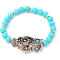 Pretty Owl Design Turquoise Bracelet for Women