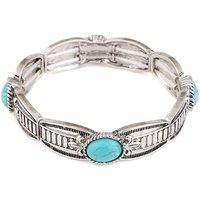 Trendy Turquoise Decor Bracelet