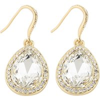 Delicate Drop-shaped Rhinestone Earrings
