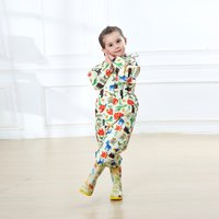 Colorful Allover Print Onesies Raincoat for Toddlers