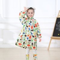 Lovely Allover Print Raincoat for Toddlers and Kids