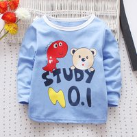 Pretty Study Print Long-sleeve Tee for Toddler Girl