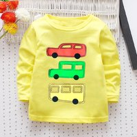 Trendy Car Print Long-sleeve Tee for Baby Boy