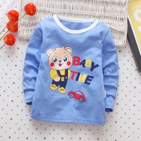 Cute Bear Print Long-sleeve T-shirt for Baby and Toddler Boy