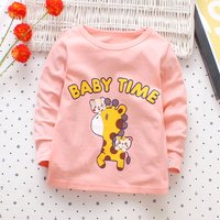 Cute Bear and Giraffe Print Long-sleeve T-shirt for Baby and Toddler