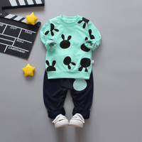 Baby / Toddler Easter Rabbit Pattern Pullover and Pants Set