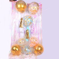 5-pack Golden Foil Clear Balloons Party Decorations