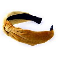 Solid Velvet Knot Headband for Women