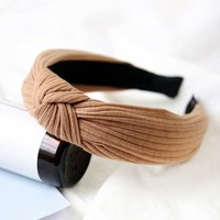 Pretty Solid Cross Ribbed Hairband for Women