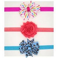 3-pack Trendy Bowknot Decor Headband Set