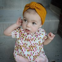 Solid Knitted Headband for Baby