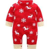 Stylish Christmas Long-sleeve Jumpsuit for Baby