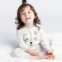 Comfy Bear Design Striped 3D Ear Long-sleeve Jumpsuit for Baby