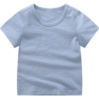 Classic Solid Short-sleeve Tee for Baby Boy and Boy