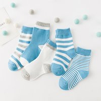5 Pcs Pretty Striped Socks for Toddler Girl and Girl