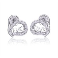 Petite D&G Heart Design Earrings