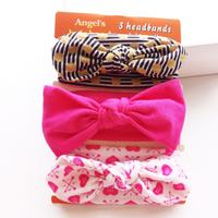 3-pack Sweet Bowknot Design Headband Set for Baby Girl