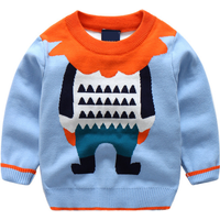 Stylish Cartoon Design Long-sleeve Sweater for Baby Boy and Boy