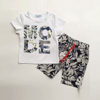 Stylish MODE Short-sleeve Tee and Shorts Set for Toddler Boy and Boy