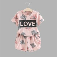 Baby / Toddler Floral LOVE Tee and Shorts Set