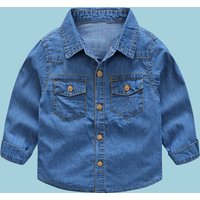 Baby / Boy Solid Denim Shirt