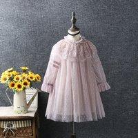 Toddler Girl's Polka Dots Lace Tulle Princess Dress