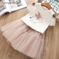 Baby/ Toddler Girl's Rabbit Print T-shirt and Tulle Skirt