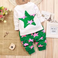 Baby  / Toddler Star Applique Tee and Star Patterned Pants Set