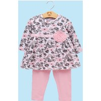 Baby 3D  Flower Floral Top and Leggings Set