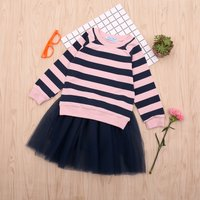 Baby/ Toddler Girl's  Striped Top and Tulle Skirt