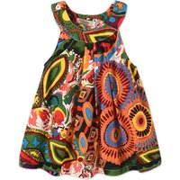 Trendy Ethnic Patterned Sleeveless Dress for Toddler Girl and Girl