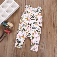 Pretty Sleeveless Floral Jumpsuit for Baby Girl