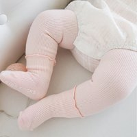 Comfy Solid Leggings and Socks Set for Baby Girl