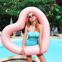 Fashionable Heart Shaped Outdoor Swimming Ring