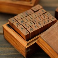 28-piece Retro DIY Letter Stamps Set
