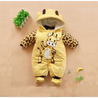 Baby's Lovely Quilted Giraffe Jumpsuit