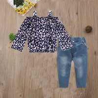 2-piece Baby/ Toddler Girl's Floral Top and Jeans