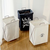 Foldable Blend Cotton Laundry Basket