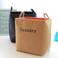 Trendy Solid EVA Laundry Basket