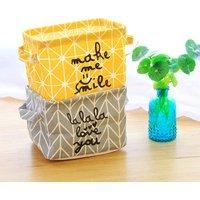 Waterproof Letter Print Mini Storage Basket