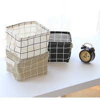 Trendy Plaid Storage Basket