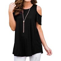Women's Cold Shoulder Short Sleeves Top