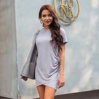 Chic Solid Flounced Body-con Dress