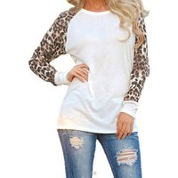 Chic Leopard Contrast Long-sleeve Top