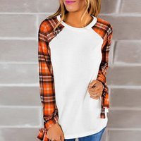 Chic Patchwork Long-sleeve Top