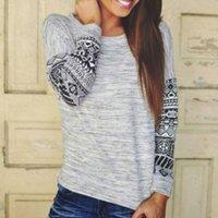 Stylish Round-collar Long-sleeve Top