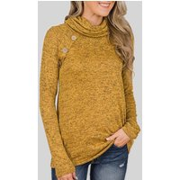 Sassy Solid Long-sleeve Top