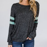Sassy Splice Sleeve Long-sleeve Tee